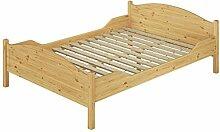 Doppelbett Überlänge 140x220 Massivholz-Bett Kiefer natur Französisches Bett Rollrost 60.30-14-220