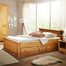 Doppelbettgestell aus Kiefer Massivholz