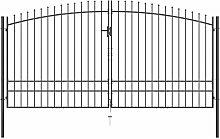 Doppelflügel-Gartentor mit Speerspitzen 400 x 248