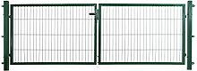 Doppelflügeltor in grün 300 x 100 cm für