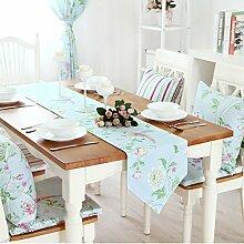 Doppelgewebe Tabelle Tischläufer/Bett-runner/American Pastoral Tischläufer/Einfachen Und Modernen Gartentisch Tischläufer-A 220x33cm(87x13inch)