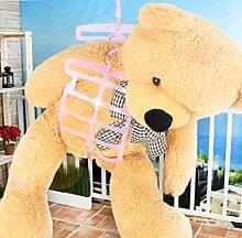 Doppelhaken Kissen Kleiderbügel Spielzeug Puppe Falten Kleiderbügel Sun Kissenrahmen Fenster ( Color : Pink )