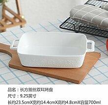 Doppelohr Platte Backform Keramik Risotto Gericht