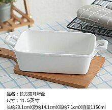 Doppelohr Teller Auflaufform Keramik Reis Gericht