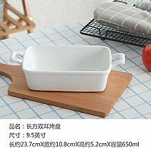 Doppelohr Teller Backform Keramik Risotto Gericht
