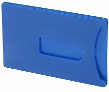 Doppelpack Kartentresor - 2 x Schutzhülle für Bankkarte oder vieles mehr - Hülle für ec-Karte - verschiedene Farben (Blau)