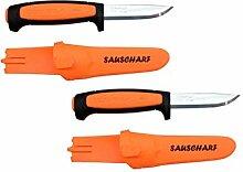 Doppelpack Messer Morakniv Basic Sauscharf Orange