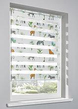 Doppelrollo Animal, weiß ((H/B) 130/110 cm)
