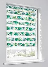 Doppelrollo Botanik, grün ((H/B) 130/120 cm)
