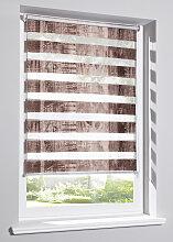 Doppelrollo Holzoptik, braun ((H/B) 130/45 cm)