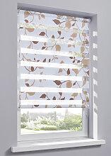 Doppelrollo Ranke, beige ((H/B) 130/45 cm)
