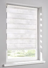 Doppelrollo Stickerei, weiß ((H/B) 150/60 cm)