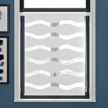 Doppelrollo Welle Transparent Zipcode Design