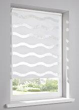 Doppelrollo Welle, weiß ((H/B) 150/45 cm)