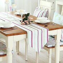 Doppelschicht-Tuch Tischl?ufer Tisch/Bett-banner/Einfache und moderne europ?ische pastorale Tisch Couchtisch Abdeckung Handtuch-B 220x33cm(87x13inch)