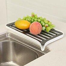 Doppelschicht Waschbecken Dish Drainer Kunststoff