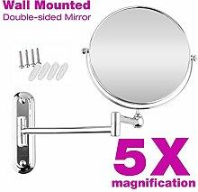 Doppelseite Kosmetik Wandspiegel mit 5 fach