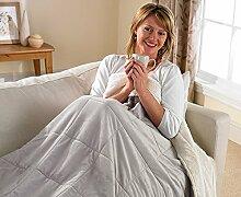 Doppelseitige 3-in-1-Decke, kuschliger Wohnmantel mit Ärmeln und Reißverschluss für Erwachsene,  tragbarer, superweicher Fleece-Überwurf. beige