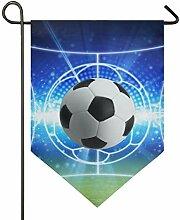 Doppelseitige Gartenflagge Fußball Fußball Licht