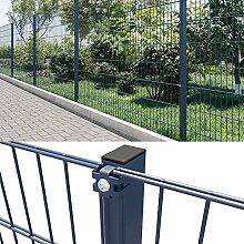 Doppelstabmattenzaun 25m Industriezaun Gartenzaun Gittermatte Zaun 1830mm Nano feuerverzinkt pulverbeschichter anthrazi