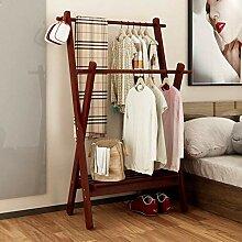 Doppelstange Bambus Kleiderständer