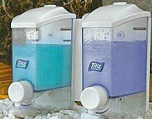 Doppelt Seife/Shampoo Spender, Wandmontage, selbstklebend/Bohrmaschine Kleiderbügel Dusche Wash 400ml x2