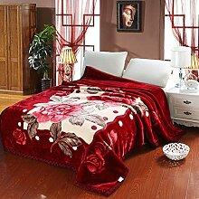 Doppelte Dicke decken/ Decke/Herbst/Winter warme Decke/Einzelne doppelte Decke/ super weich Hochzeit Decke-S 220*240cm(87x94inch)