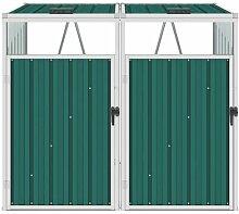 Doppelte Mülltonnenbox Difranco