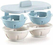 Doppelte Tasse Kunststoff Mikrowelle Ei Eierkocher