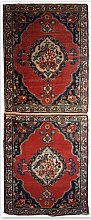 Doppelter antiker Teppich, 1910er