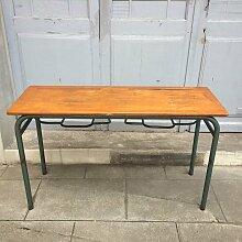 Doppelter Vintage Schultisch