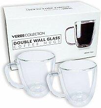 Doppelwandige Espressotasse aus Glas für Espresso
