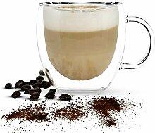 Doppelwandige Glas Isolierte Kaffeebecher,