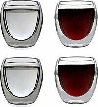 Doppelwandige Glas-Kaffeebecher 250 ml