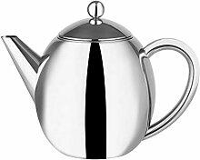Doppelwandige isolierte Teekanne aus poliertem