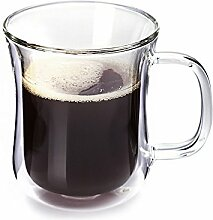 Doppelwandige Kaffeetasse 200 ml Gläser