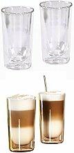 Doppelwandige Latte Macchiato-Gläser