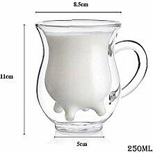 Doppelwandige Tasse Kaffee Glas Tee Becher