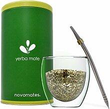 Doppelwandiger Glas Mate Tee Becher mit Bombilla