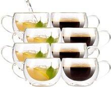 Doppelwandiges Kaffee- & Tee-Glas, 8er-Set