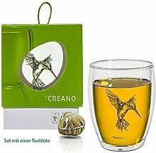 Doppelwandiges Teeglas »Kolibri grün« im