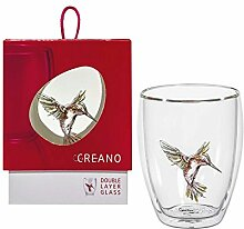 Doppelwandiges Teeglas »Kolibri rot« im