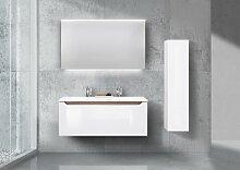 Doppelwaschbecken 120cm Design Badmöbel, Made in