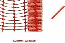 DOPPEÖPACK-Bradas Kunststoffzaun- Fangzaun-Wildzaun -2 x 30 m Rolle x 1m Höhe -Ges.:60 m (Doppelpack, extra reißfest - BAUSTELLEN-SICHERHEITSZAUN-Farbe :Orange