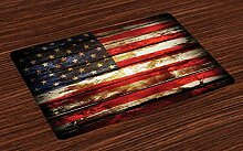 Dor675ser Diatom Matte, amerikanische Flagge,