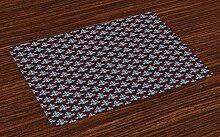 Dor675ser Diatom Schmutzfangmatte, Braun und Blau,