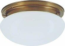 Dora Messing Glas Deckenleuchte in Weiß, Opal