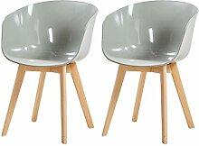 DORAFAIR 2er Set Stuhl Skandinavisch Modern