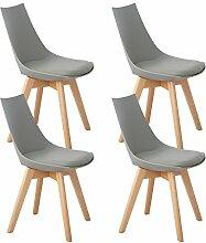 DORAFAIR 4er Set Holz küchen stühle,Retro