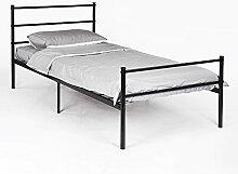 DORAFAIR Einzelbett Metallbett Metall Rahmen Bett